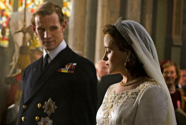 Matt Smith nel ruolo del Principe Filippo