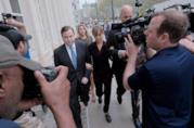 Allison Mack all'arrivo in tribunale