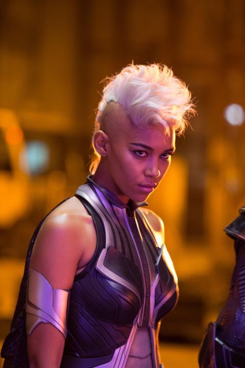 Alexandra Shipp nel ruolo di Tempesta in X-Men: Apocalisse