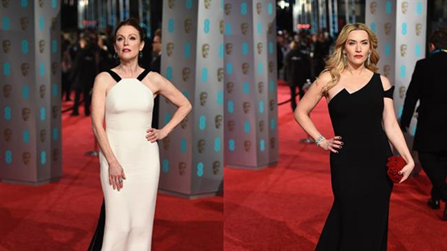 Julianne Moore e Kate Winslet ai premi Bafta 2016