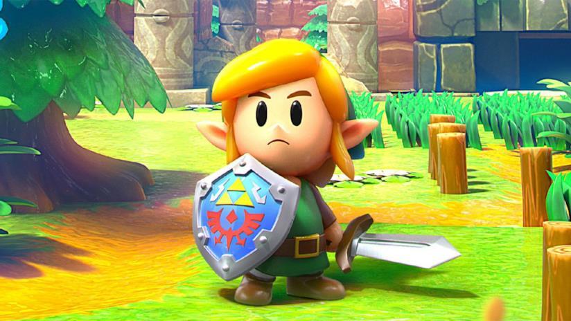 Link in The Legend of Zelda Link's Awakening Remake