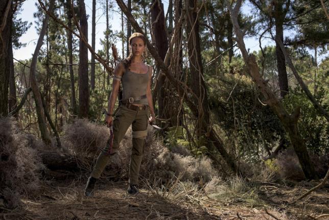 Lara Croft nella giungla in Tomb Raider 2018