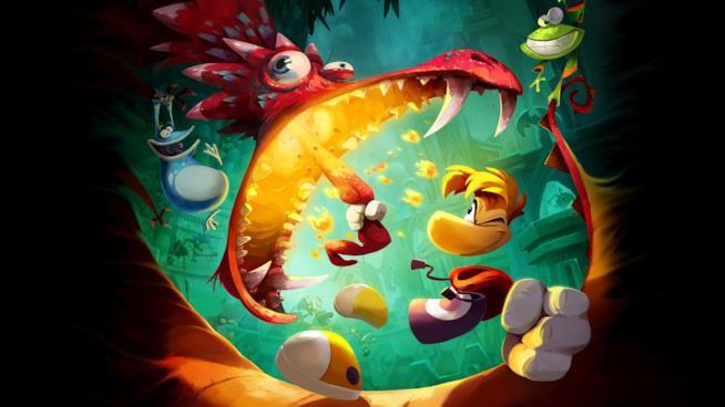 Rayman alle prese con un nemico