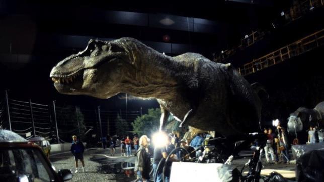 Il set di Jurassic Park con il T-Rex animatronic