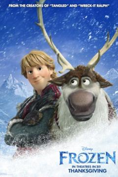 Kristoff e Sven nel character poster di Frozen