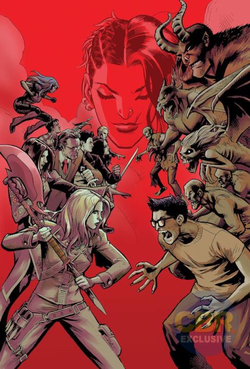 Buffy guida i suoi compagni nella lotta