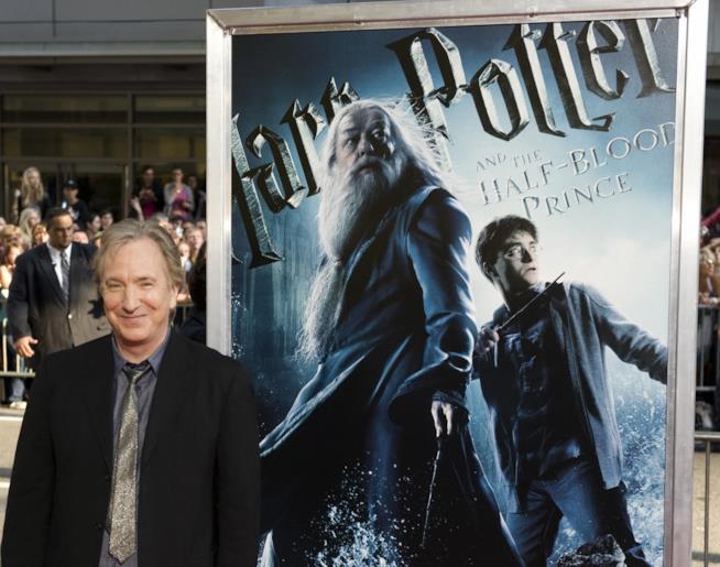Alan Rickman alla prima di Harry Potter e il Principe Mezzosangue