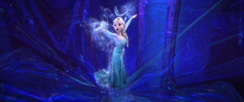 Un'immagine che ritrae Elsa in Frozen - Il regno di ghiaccio
