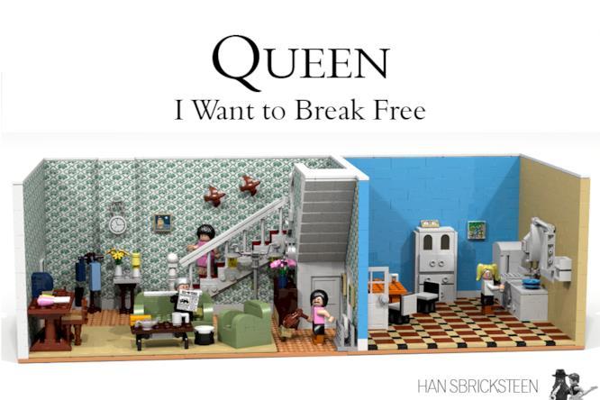 Il video dei Queen fatto con i mattoncini LEGO