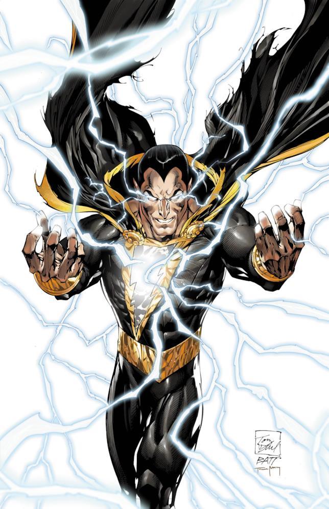 Black Adam scaglia i suoi poteri