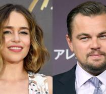 Emilia Clarke e Leonardo DiCaprio