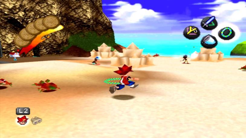 Un'immagine di gameplay da Ape Escape