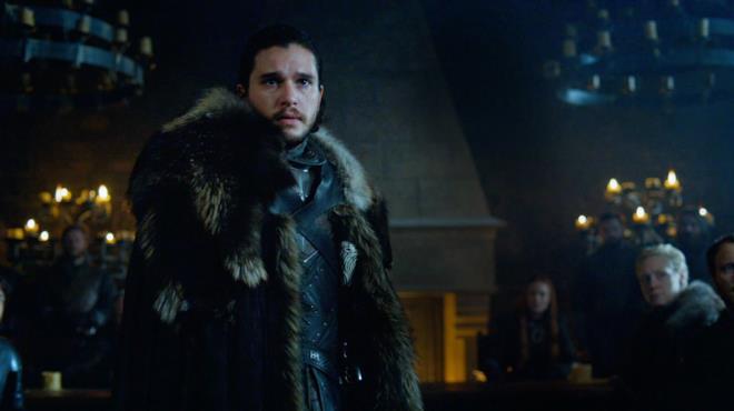 Kit Harington è Jon Snow in una scena di Game of Thrones 7