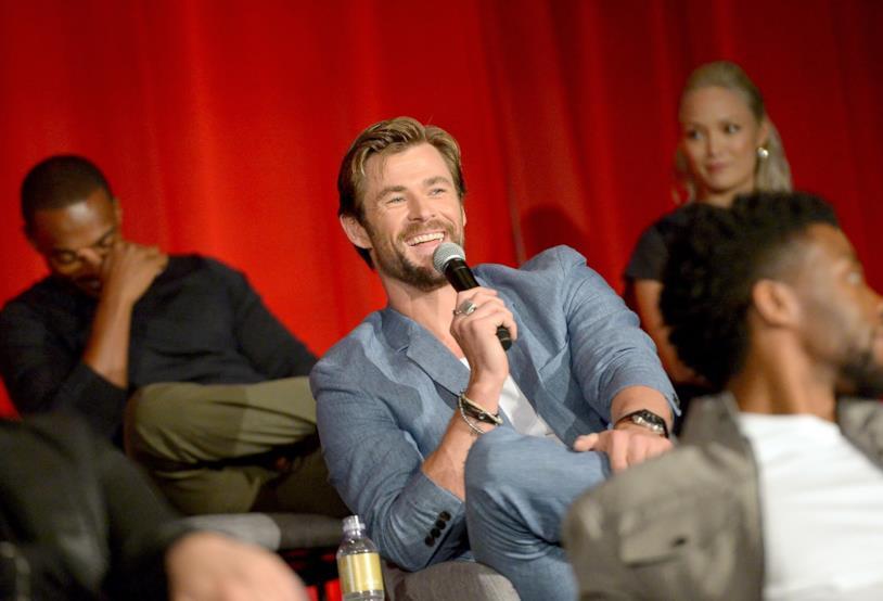 Chris Hemsworth alla conferenza Avengers: Infinity War