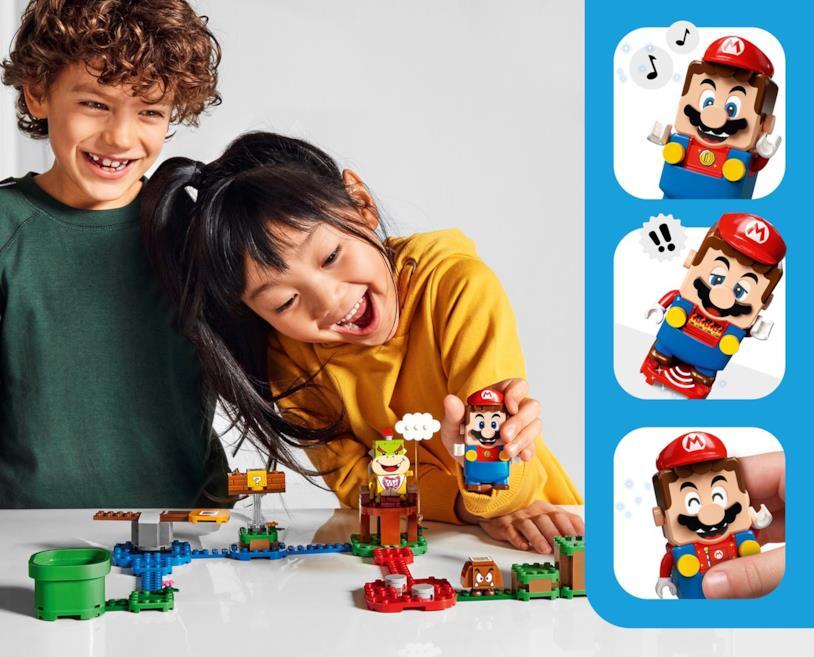 Un'immagine promozionale di LEGO Super Mario
