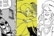 Tre dei fumetti presenti in classifica: La Profezia dell' Armadillo, Romanzo Esplicito e Cinzia