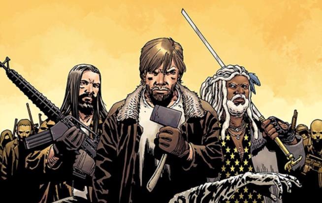 Ezekiel e Rick nel comic-book di The Walking Dead