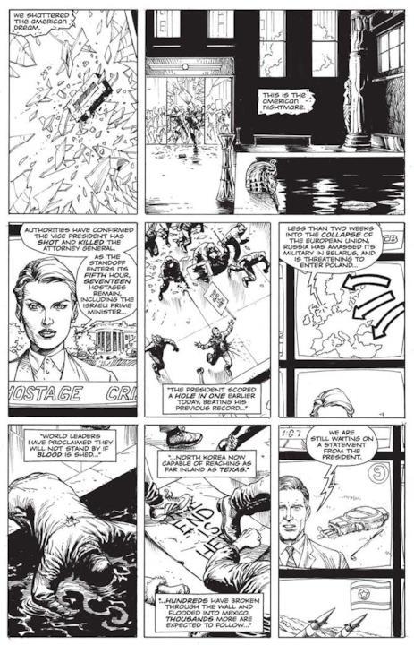 Seconda pagina di Doomsday Clock presentata al New York Comic Con