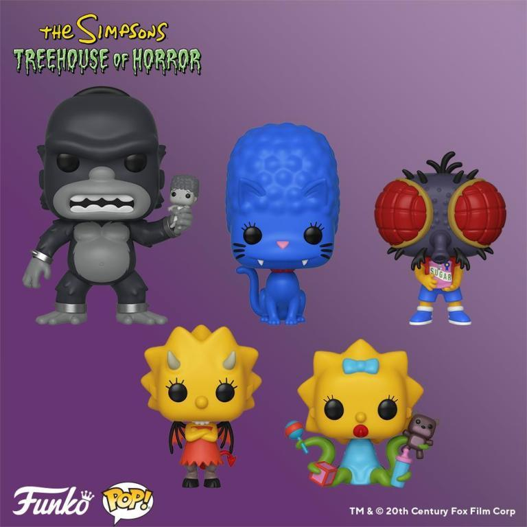 I Simpson nelle loro versioni de La Paura fa Novanta