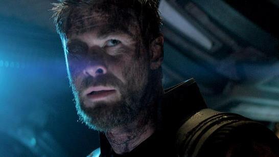 Chris Hemsworth in un'immagine da Avengers: Infinity War
