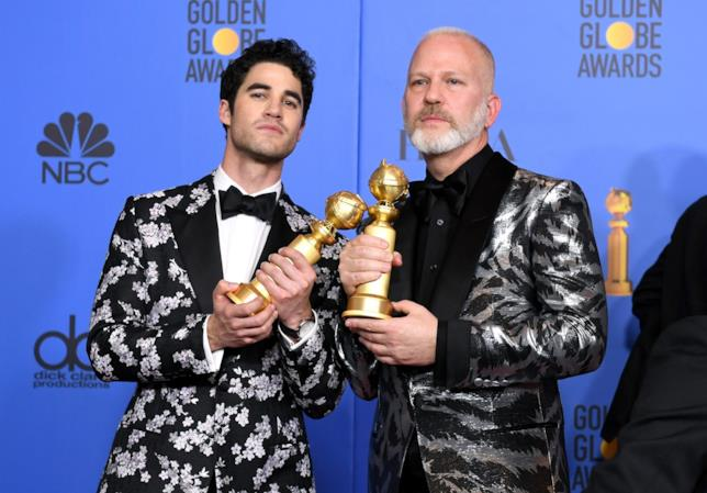 Darren Criss e Ryan Murphy ai Golden Globes 2019