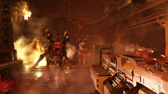 Uno scatto in game dalla campagna di Doom