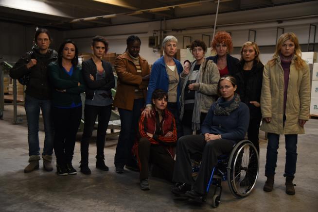 Il cast femminile della pellicola 7 Minuti