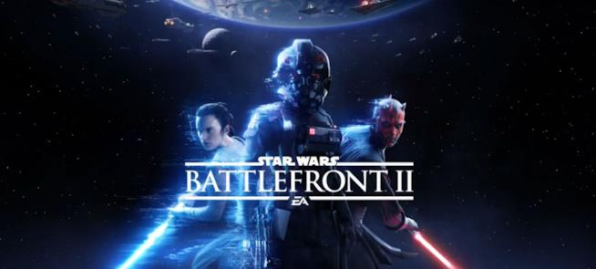 Darth Maul e Rey sul logo di Star Wars Battlefront 2