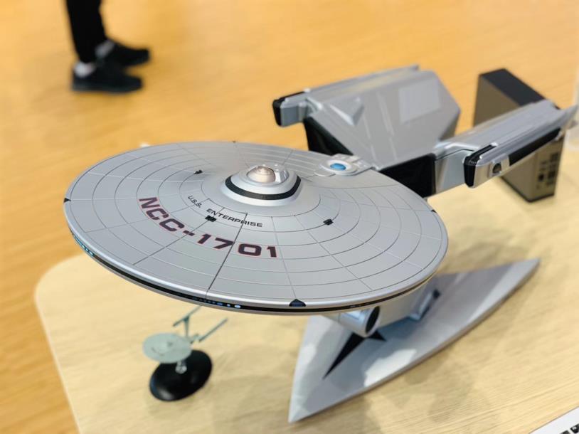 Il Tiburn Enterprise Star Trek PC visto dall'alto