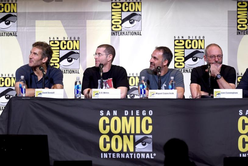 Gli showrunner di Game of Thrones sul palco del San Diego Comic-Con nel 2016