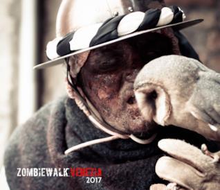 Il vincitore alla Zombie Walk Venezia 2017.