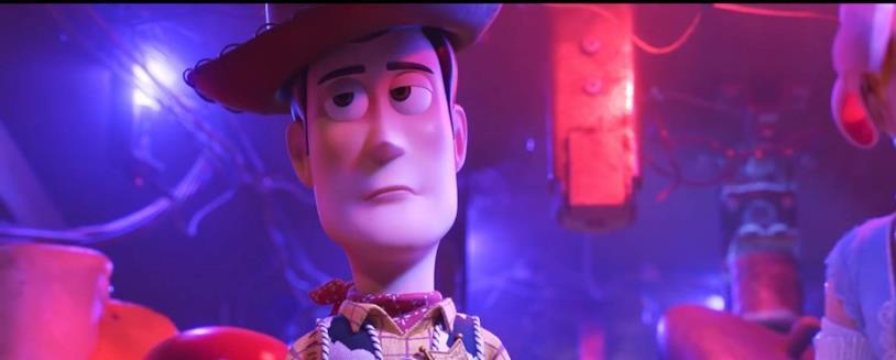 Lo sceriffo Woody in una scena di Toy Story 4