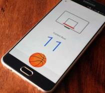 Schermata del gioco del basket nascosto in Facebook Messenger