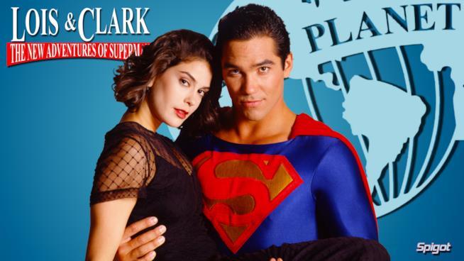 Teri Hatcher e Dean Cain in un'immagine tratta dalla serie Lois & Clark