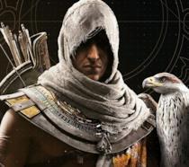 Un primo piano del protagonista di Assassin's Creed Origins