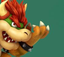 Il malefico ghigno di Bowser, nemico di Super Mario