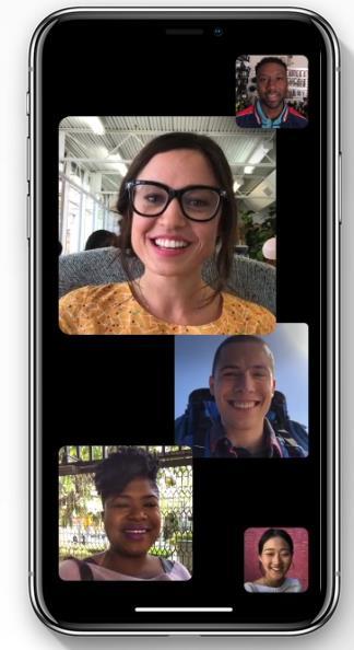 Dettagli sulla nuova grafica delle videochiamate di gruppo con iOS 12