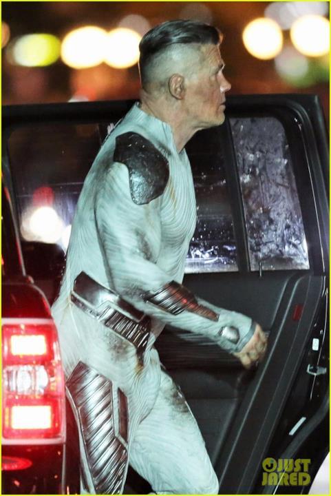 Josh Brolin durante le riprese di Deadpool 2