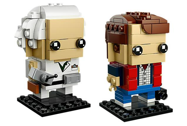 Dettagli dei due set LEGO BrickHeadz dedicati a Doc Brown E Marty McFly