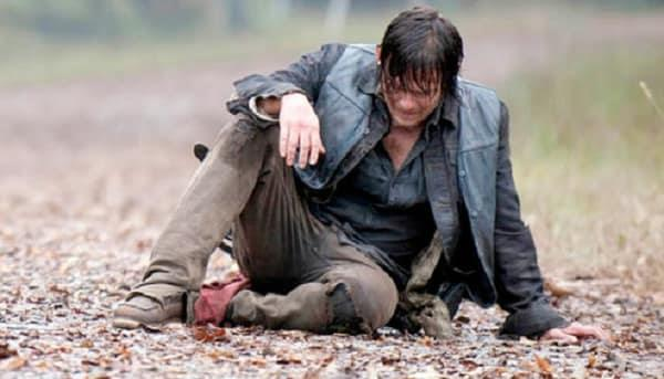 Daryl Dixon in una scena di The Walking Dead