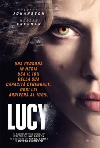 Scarlett Johansonn nel poster di Lucy (2014)