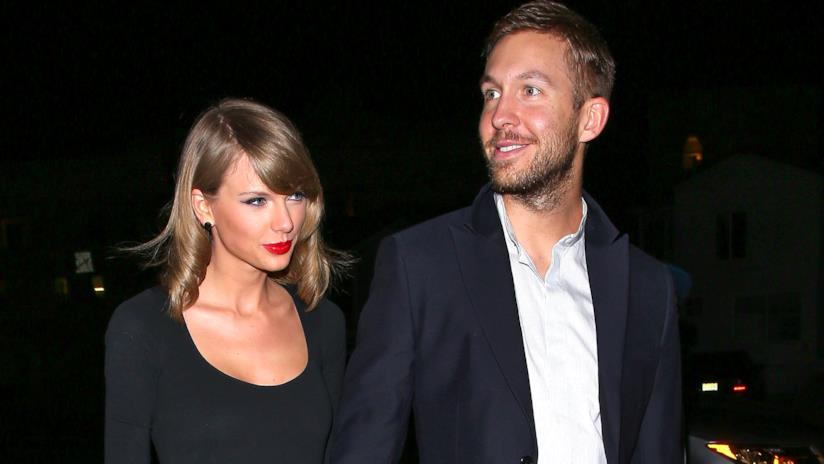 Primo piano di Taylor Swift e Calvin Harris
