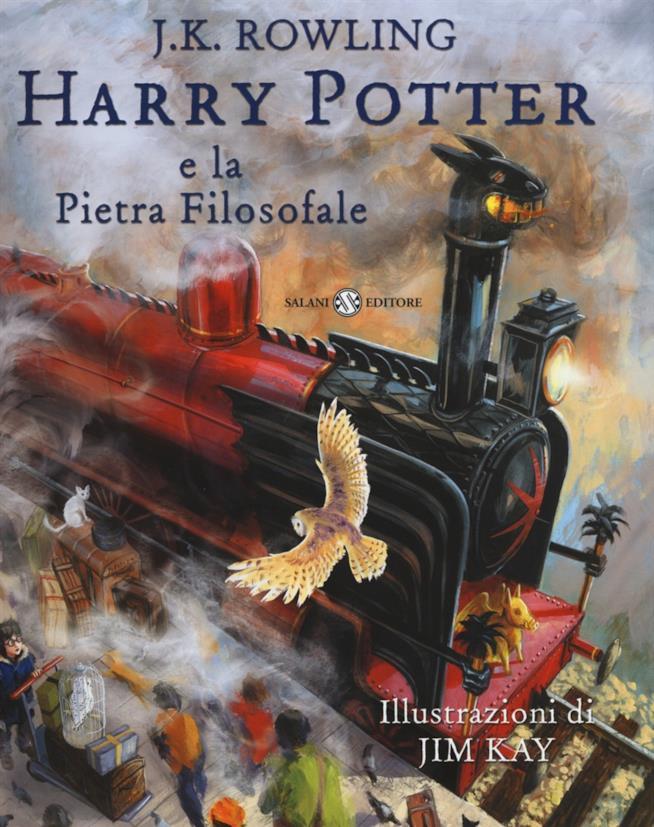 Copertina Harry Potter illustrato
