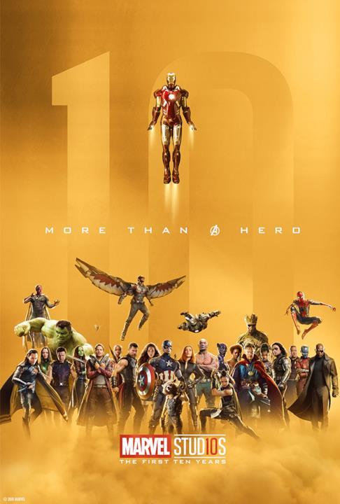 10 anni di Studi Marvel: il poster con tutti i protagonisti