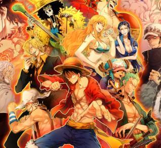 La ciurma di Cappello di Paglia e altri personaggi di One Piece