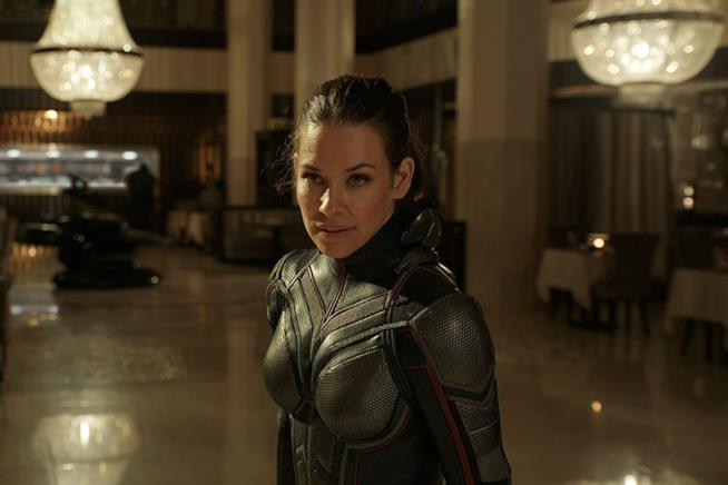 Evangeline Lilly in una scena di Ant-Man and the Wasp