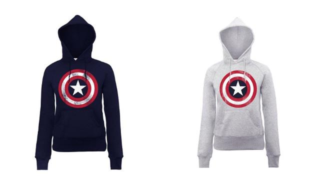 Felpa donna Marvel Captain America