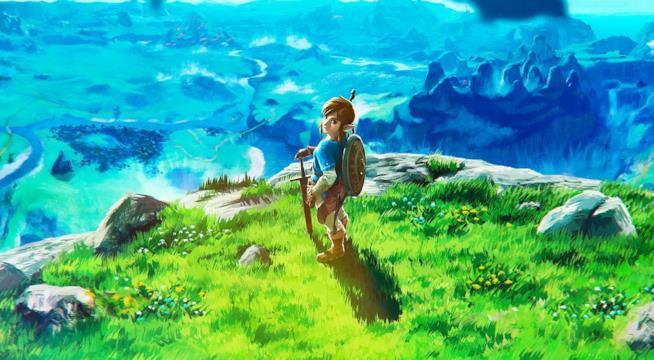 Link esplora una colorata valle in The Legend of Zelda: Breath of The Wild