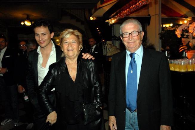 La famiglia di Luciano Rispoli, la moglie e il figlio