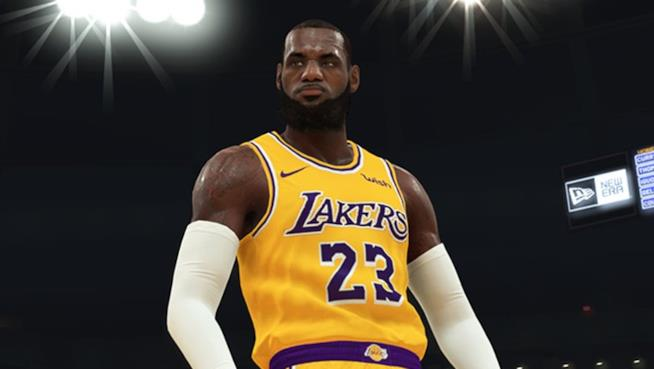 LeBron James in NBA 2K19